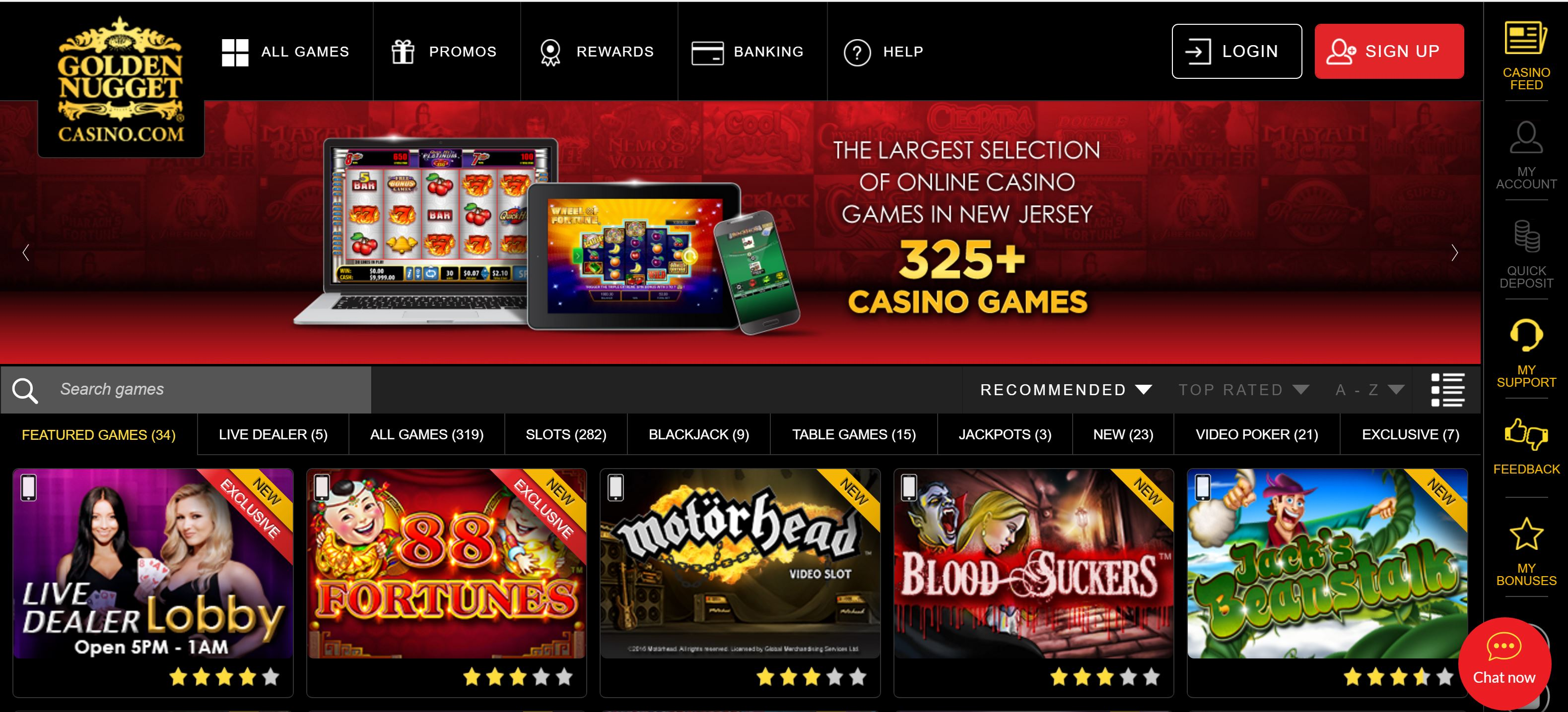golden nugget online casino gamer handy